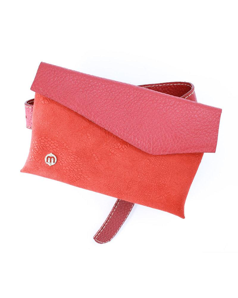 Misha Shoes Luciana Red Leather Belt Bag