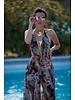 La Tucha Potted Cherub Print Dress - Size S