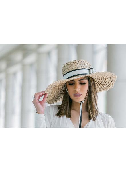 Margarita Diaz del Castillo Santa Maria Hat (Natural/Black/White)