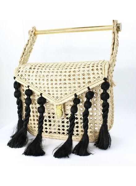Palma Canaria Hamer Bag with Black Fringe