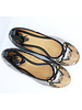 Vida Leather Luxury Owl Ballerina Flats