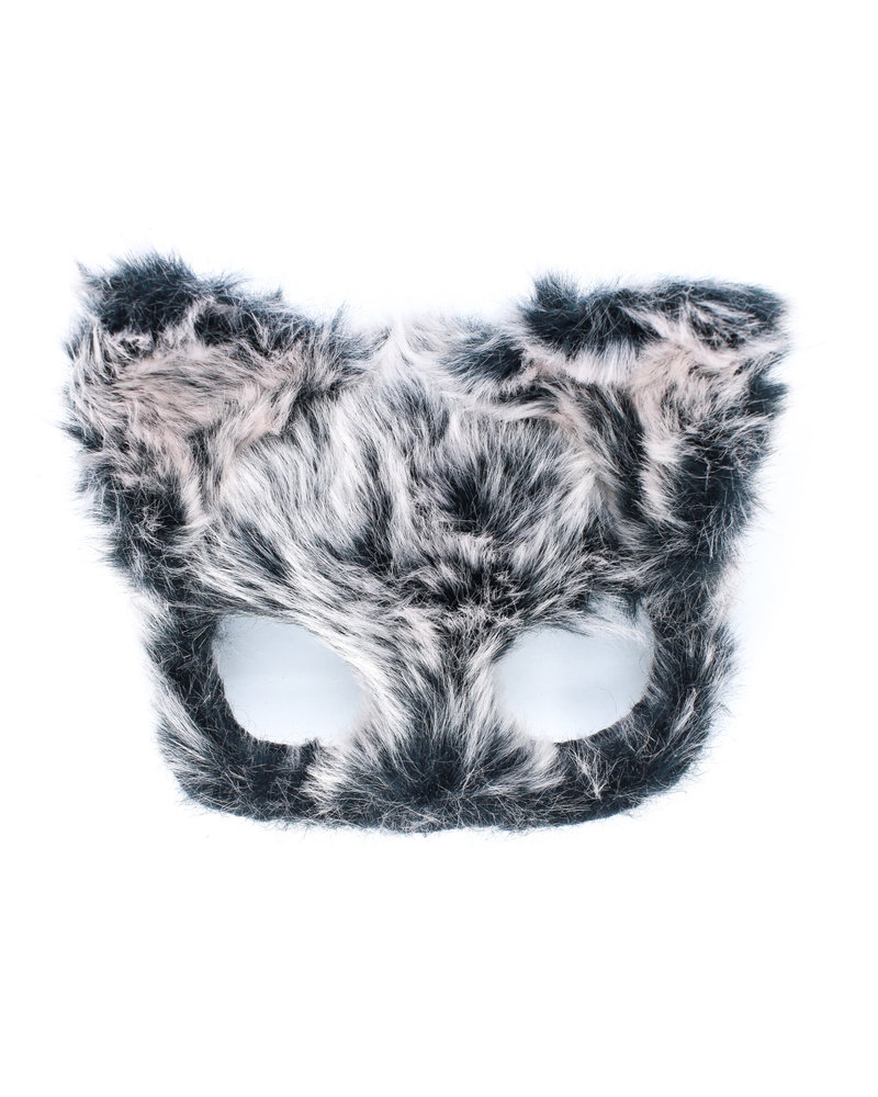 Anima Design cat mask plush grey