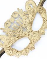 Anima Design Mask Lace Gold Small
