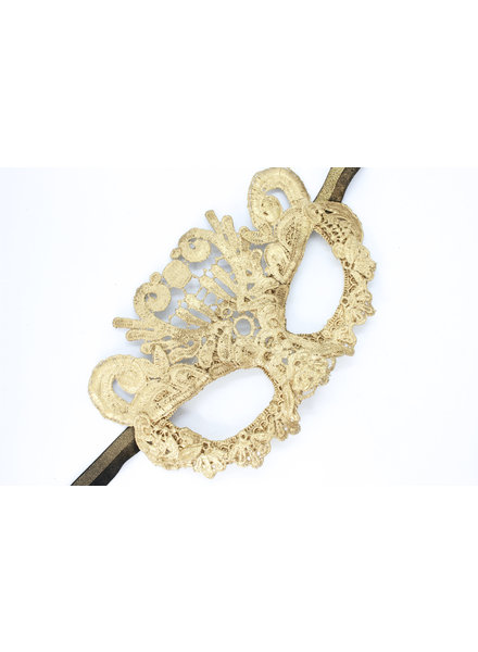 Anima Design Mask Lace Gold Small
