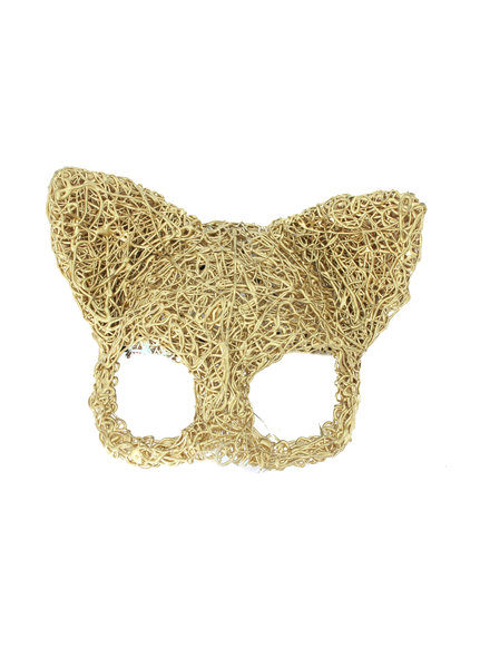 Anima Design cat mask silicone gold