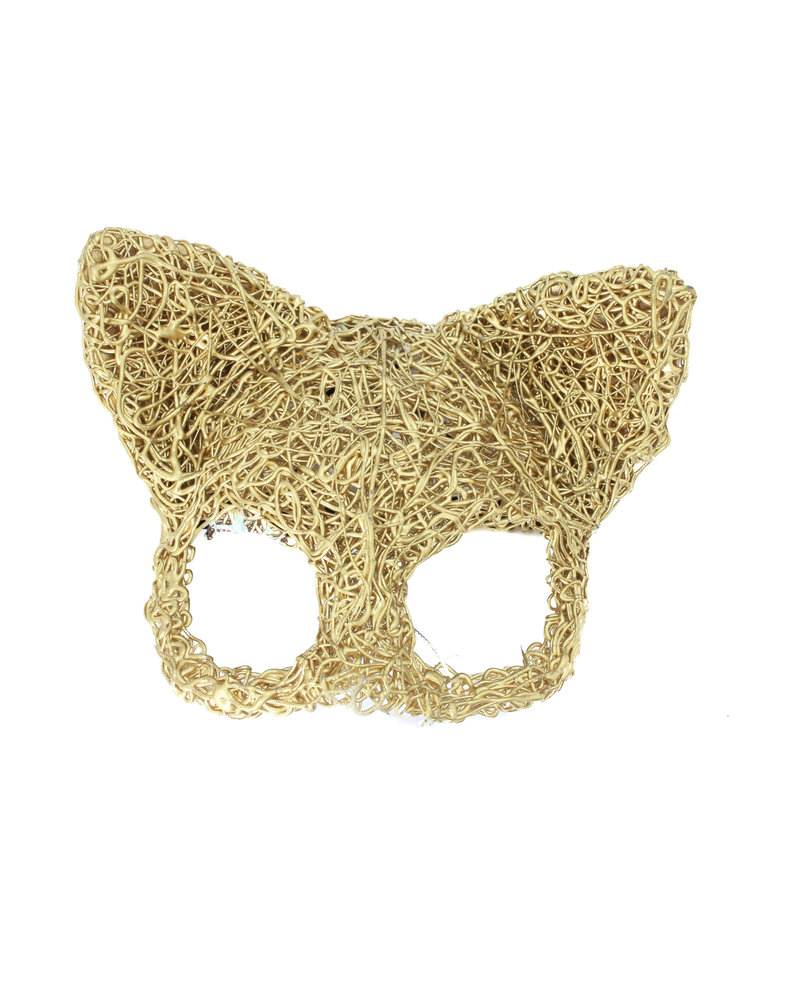 Anima Design cat mask silicone gold