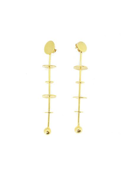 TAO Mega 24k Gold Tube Earrings