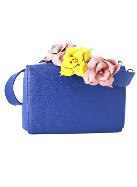 Jessi Caballero Box Bag Leather/Velvet Blue