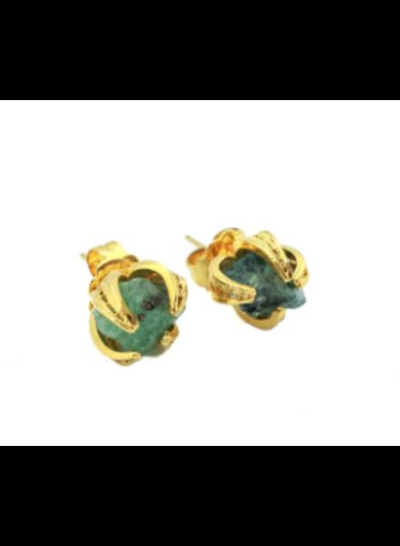 Tantra Cristy Emerald Stud Earrings