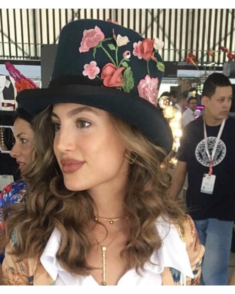 Margarita Diaz del Castillo HAT - Coquito Top 100% Sheeps Wool