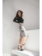 Bendita Seas Skirt Pasadena Knee Length Grey Size 8
