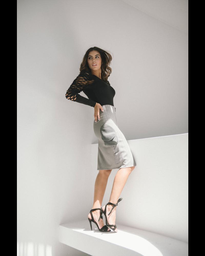 Suki Cohen BODYSUIT - Wild Sleeves black - Size S