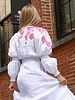 Zuly Niño DRESS - White Hand-Painted Dream Flower Linen - Size 8