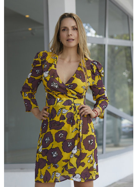 Almagores DRESS - Pastorini flowered - Size S/M