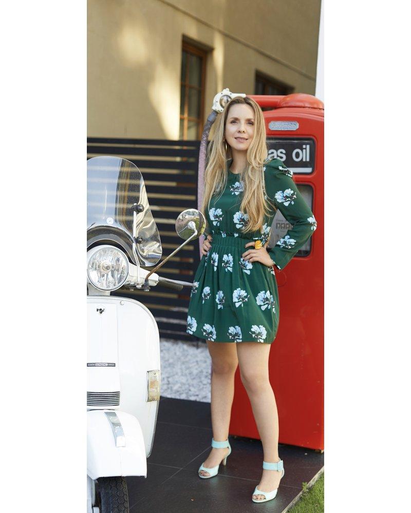 DRESS - Green flowers - Size