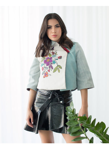 Bendita Seas JACKET - Porciuncula Light Blue Floral - Size 8
