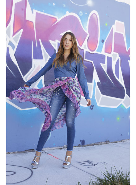 Emerging Designers JEAN - Naomi Stretch Pearl Embellished Skinny