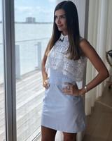 DRESS - Light Blue Stripes - Size M