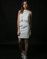 DRESS - Light Blue Stripes - Size S