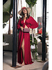 DRESS Red Wrap Front and Lace Back - Size M
