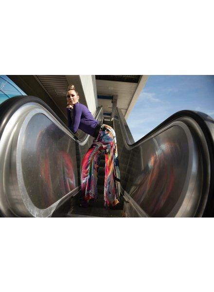 La Tucha PANT - Renault Silk Print  - Size M