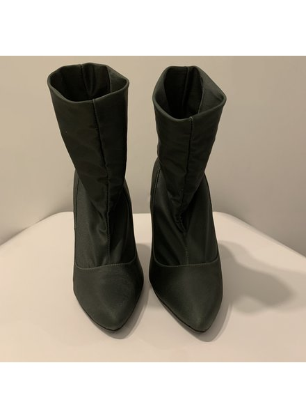 PUPI Fashion Project ANKLE BOOTS - Verde Oliva - Size 7