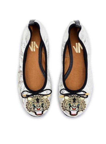 Vida Leather SHOES - Luxury Tiger Baillerina flats -Size7