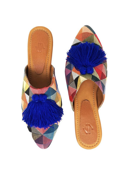 Vida Leather SHOES - Triangle carnival shoes - Size 7