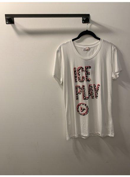 Iceberg T-SHIRT - White Ice play - Size S