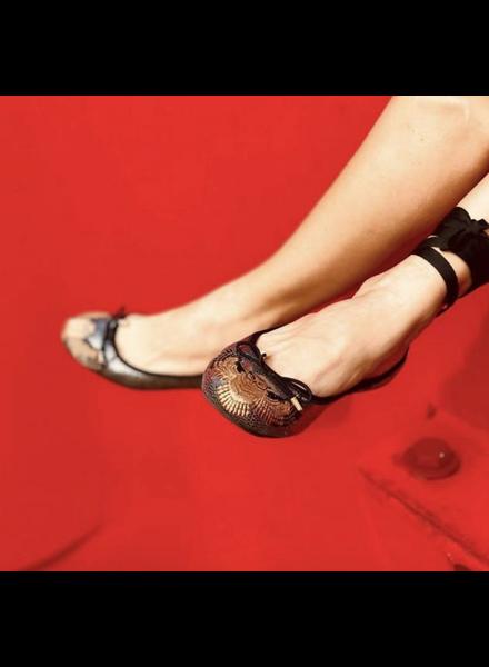Vida Leather SHOES - Luxury Owl Ballerina Flats - Size|7