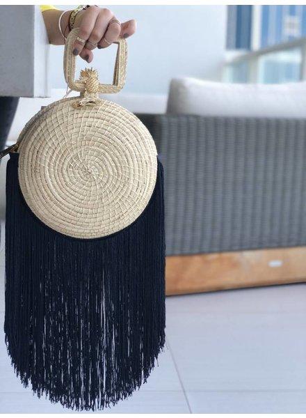 Palma Canaria Yoyo Blue Fringe Handmade Handbag