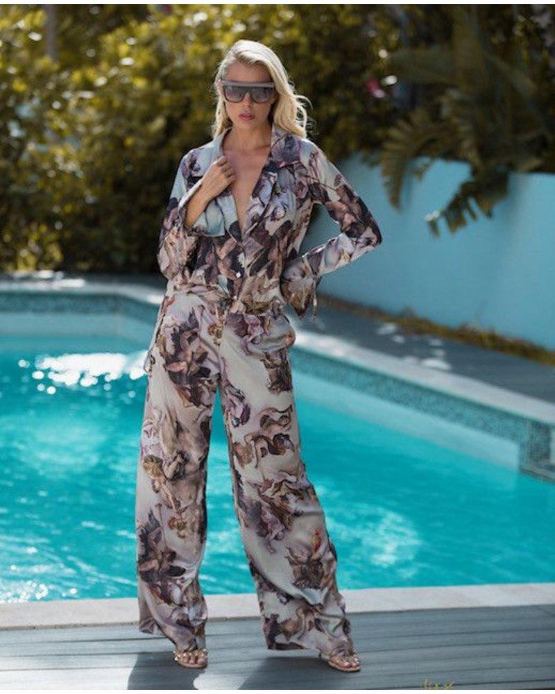 La Tucha Prevail Silk Cherub Top and Pant Set