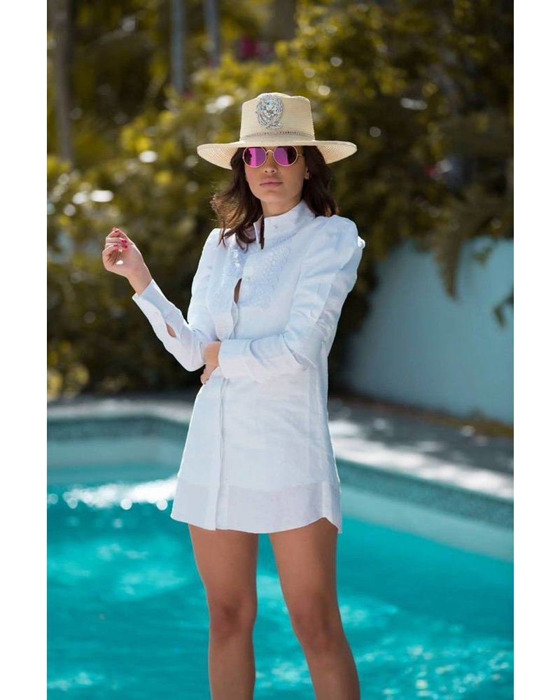 La Tucha DRESS - Penelope White Shirt