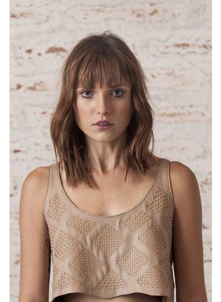 Andrea Landa CROP TOP - Catalina Leather - Size 8