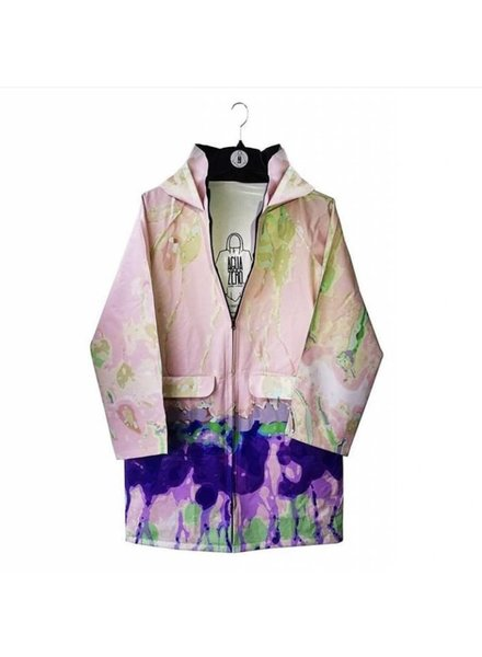 3b89a720e46b0a Aguazero Dora Raincoat With Pink Flowers - Size Small