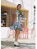 Emerging Designers Lili Blue Floral Swing Dress with Back Detail