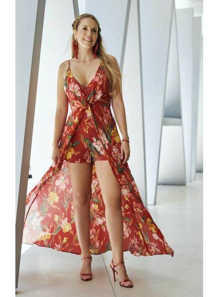 Emerging Designers ROMPER - Lena Floral High Low