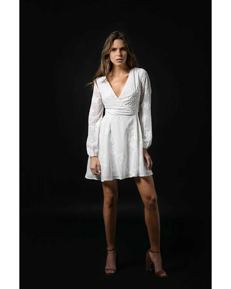 Emerging Designers  Daria White Long Sleeve Dress