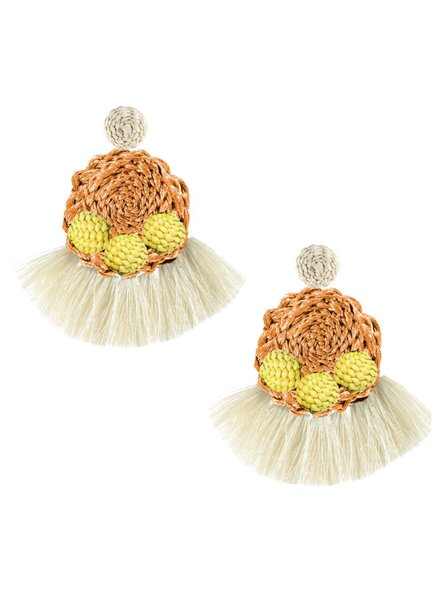 Tantra Lorena Iraca Woven Fringe Earrings