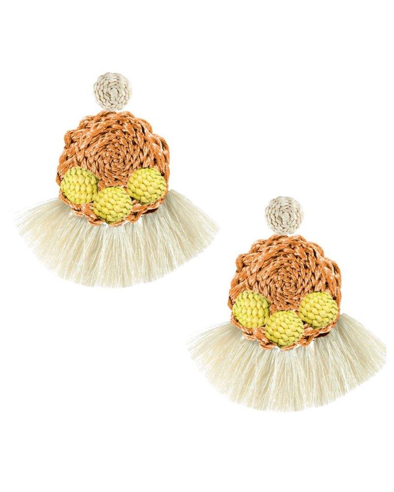 Tantra Lorena Iraca Woven Fringe Earrings