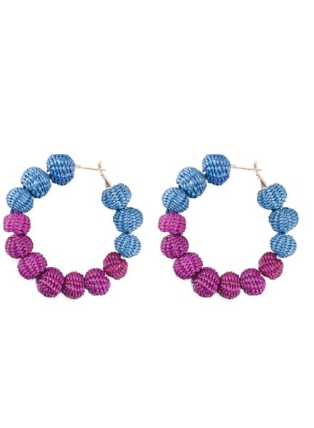Tantra Earrings Maxi Balls Blue/Purple