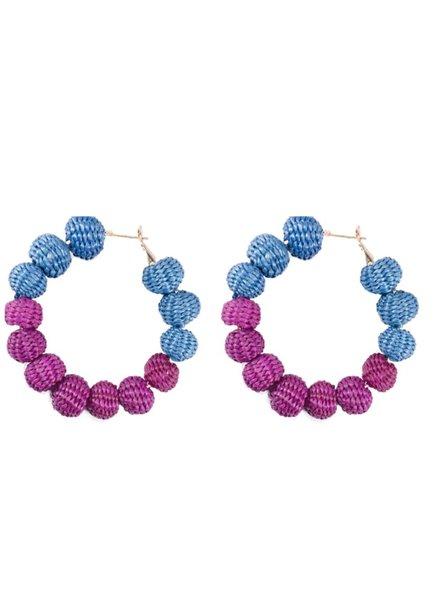Tantra Earrings Maxi Balls Blue/Purple
