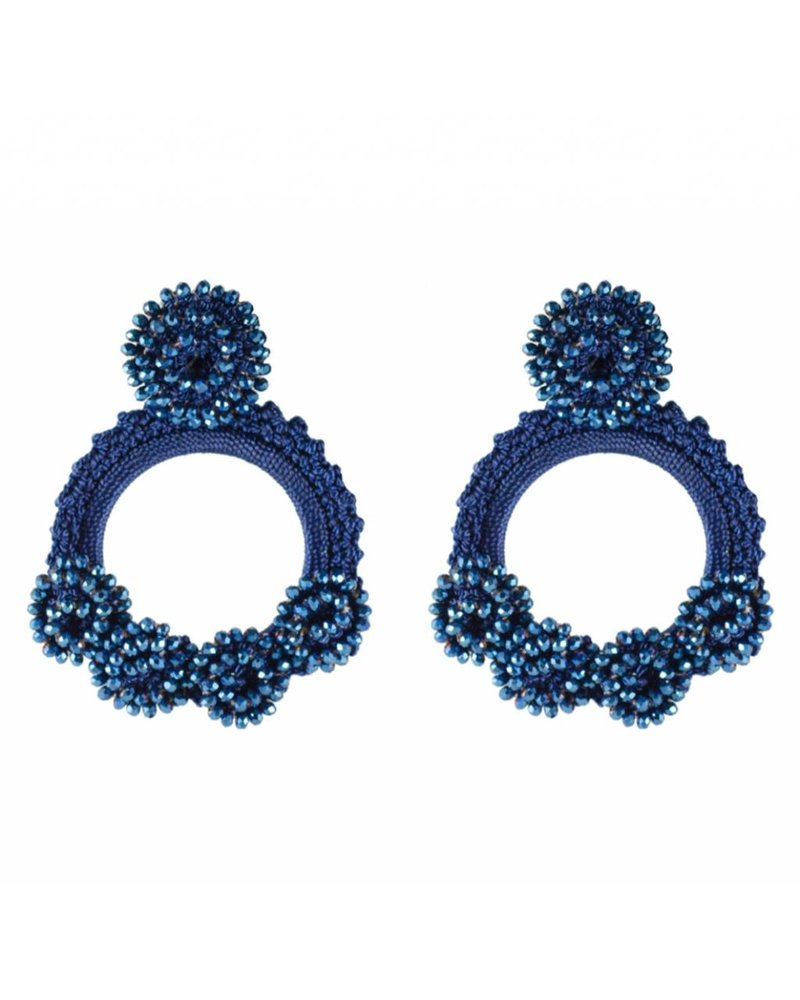 Tantra EARRINGS - Mariabella Beaded Iraca Woven