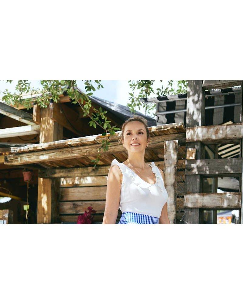 Emerging Designers Sienna Open Back Crop Top