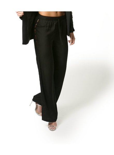 ebc0560d96b3ce Bia Black Chiffon Pants With Lace On The Sides