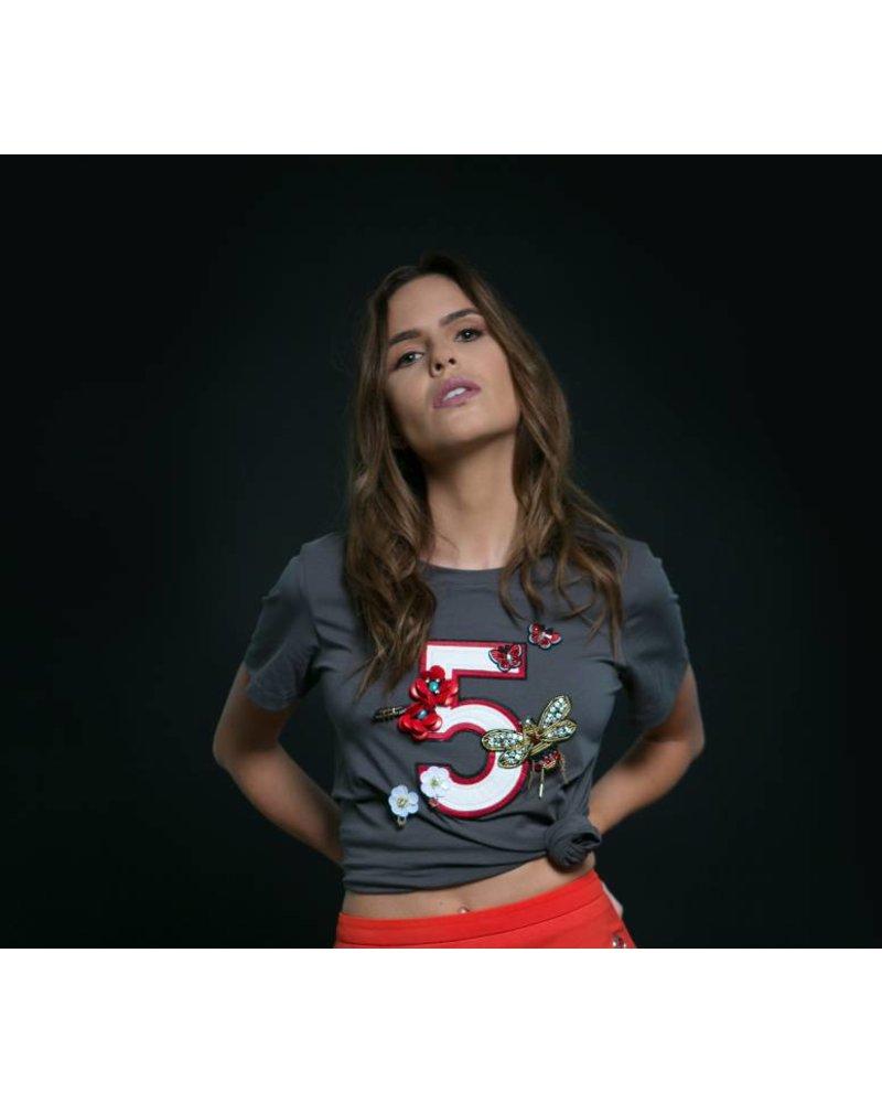 Emerging Designers Marina Appliqué Five T-Shirt