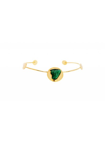 TAO Debra 24k Gold Choker With Emerald Accent