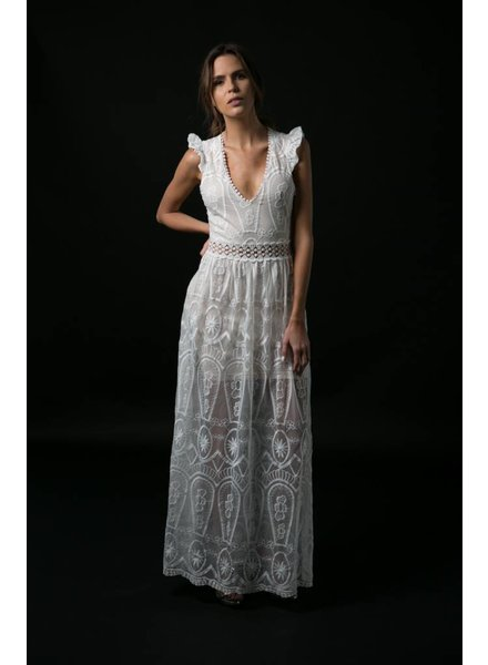 e6fa854f52b760 Caitlyn Long White Lace Dress