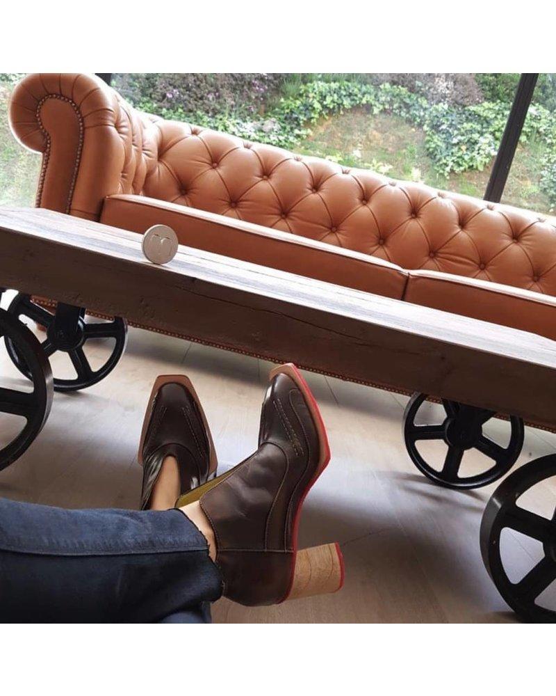 Misha Shoes Camaro Honey Leather Boots - Size 37