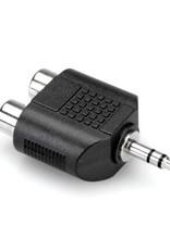 Hosa Adaptor, Dual RCA to 3.5 mm TRS